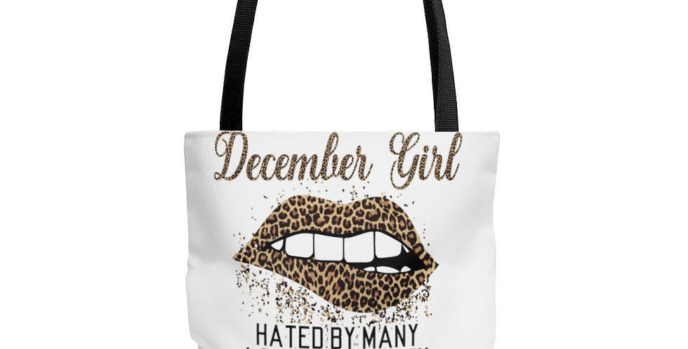 December Girl A Mouth She Can't Control High Quality Tote Bag