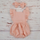 Thumbnail: Organic Cotton Baby Girl Jumpsuit Headband Dusty Pink