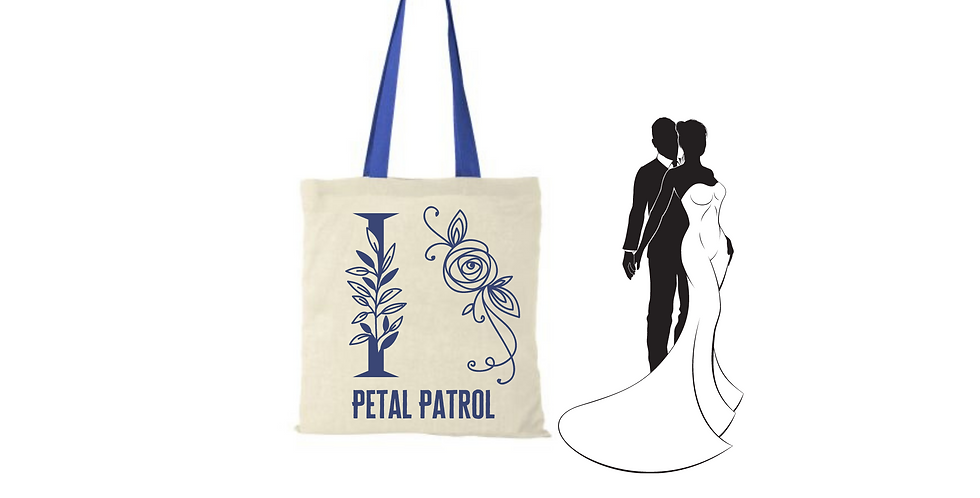 Floral Alphabet Any Letter Initial Personalised Petal Patrol Tote Bag