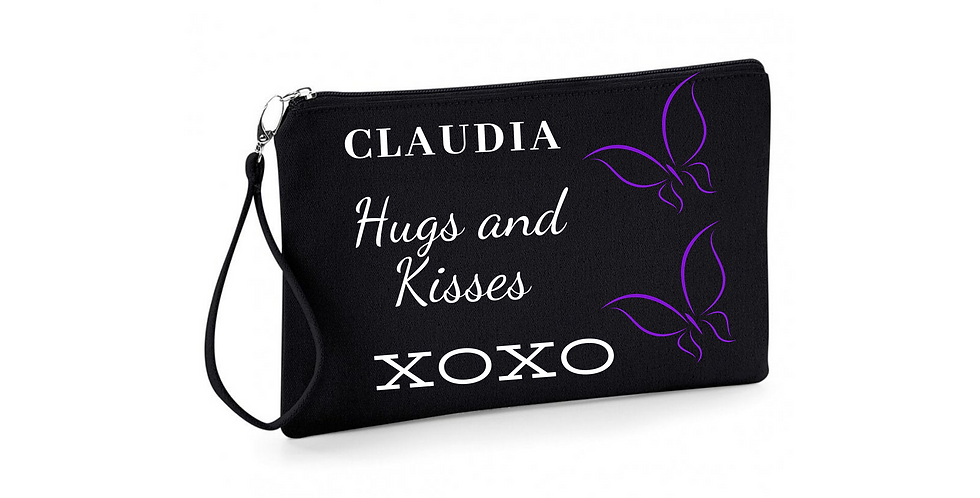 Wedding Hug And Kisses Personalised Accessory Bag