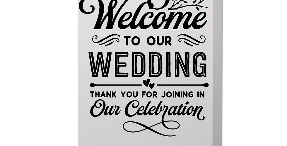 Welcome To Our Wedding Thank You For Joining In Our Celebration Photo Canvas