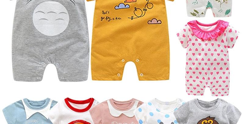 Short Sleeved Girls Dress Baby Romper