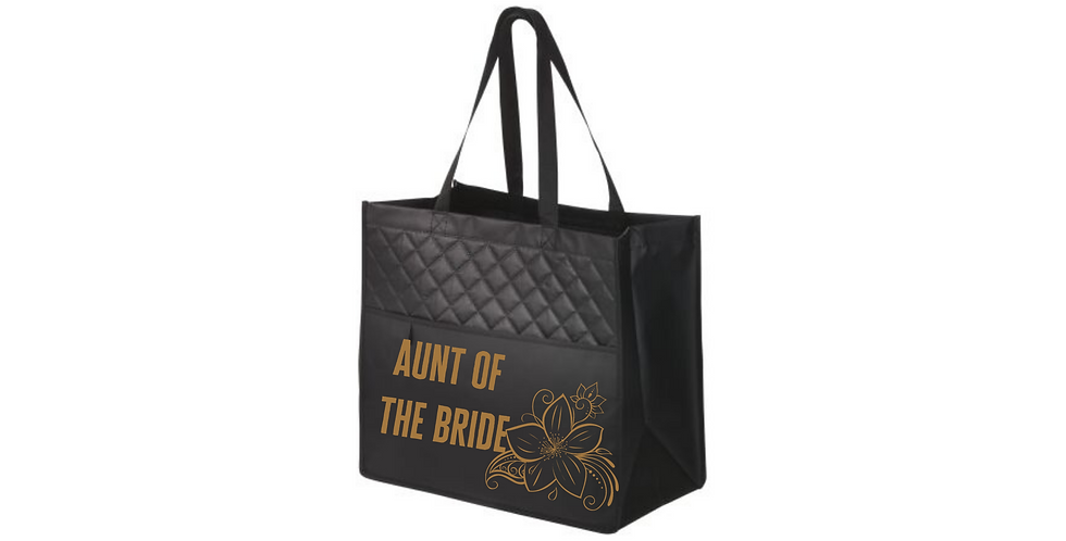Aunt Of The Bride Personalised Fashionable Tote Bag