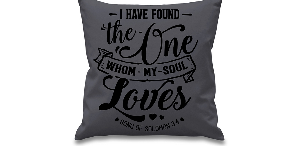 Wedding Cushion Cover I Have Found The One Whom My Soul Loves