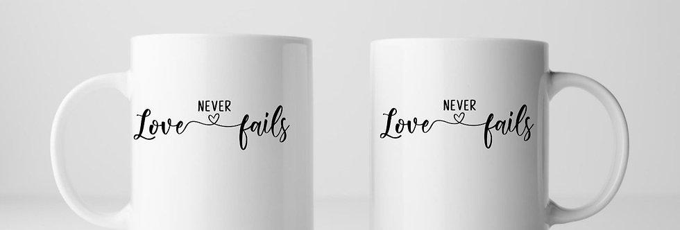 Love Never Fails 11oz Mug