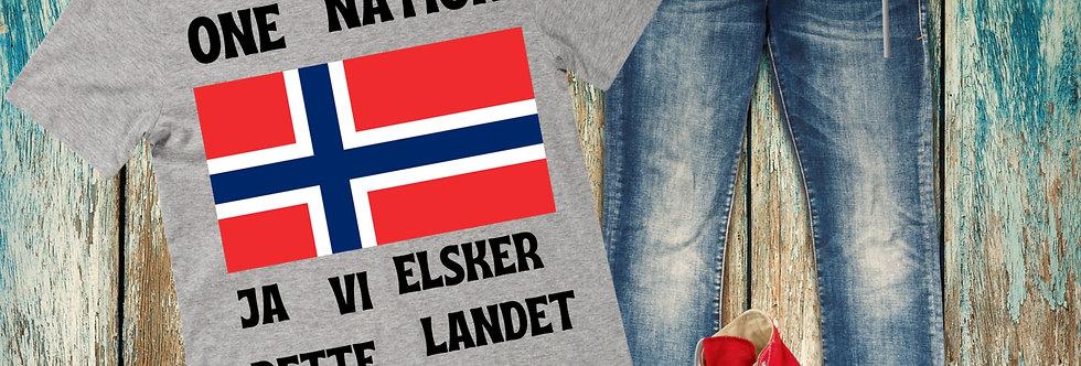 One Nation Ja Vi Elsker Dette Landet T-Shirt