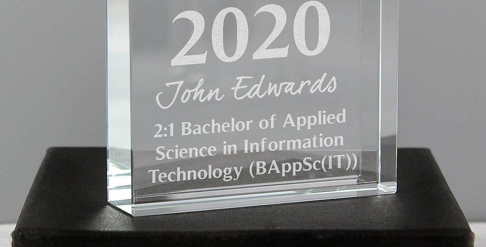Large Crystal Token Personalised Graduation
