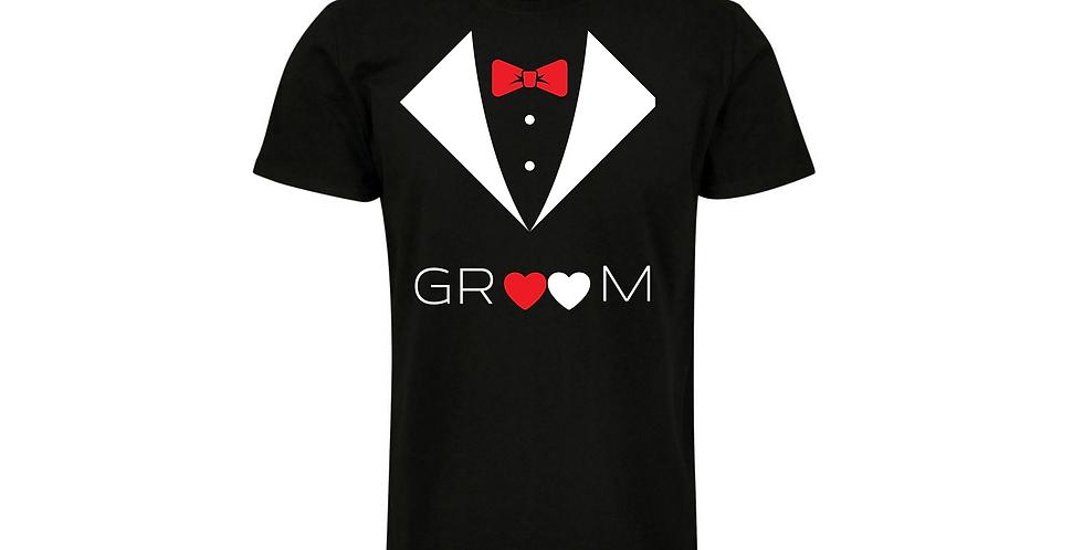 Custom Wedding T-Shirt Groom