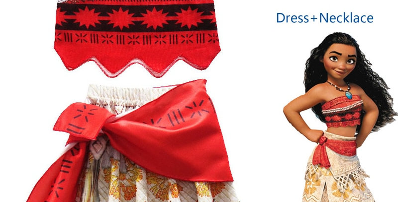 Princess Moana Cosplay Costume for Children