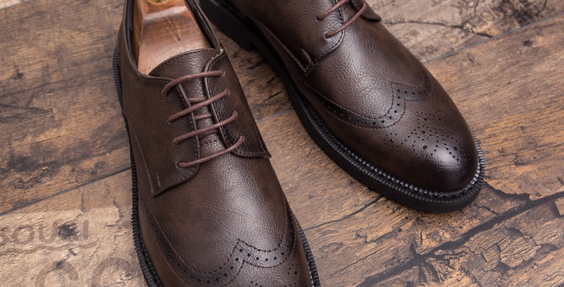 Men Brogue Fashion Oxford Dress Shoes