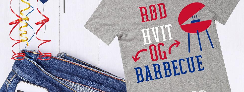 Rød Hvit Og Barbecue T-Shirt