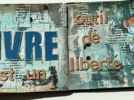 Art Journal - Défis d'avril chez ...