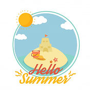 hello-summer-illustration-vector-with-cu