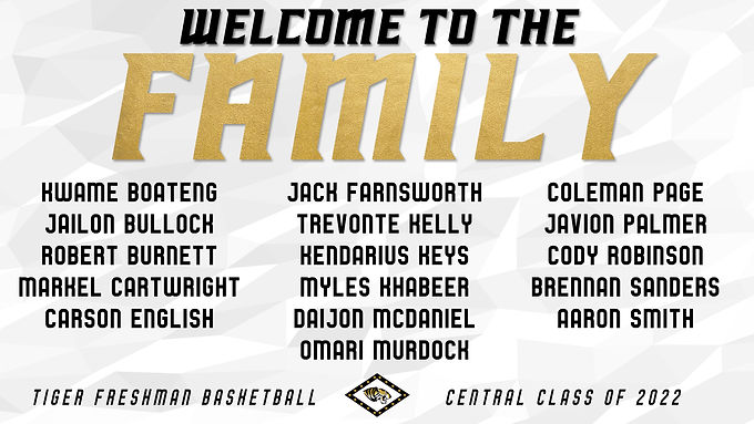 Welcome to the Family, Freshman Tigers!