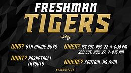 Freshman Tiger Tryout Dates Set