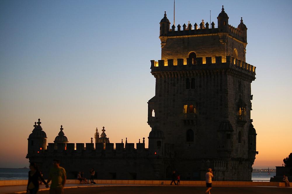 Torre de Belém em Lisboa ao cair da tarde