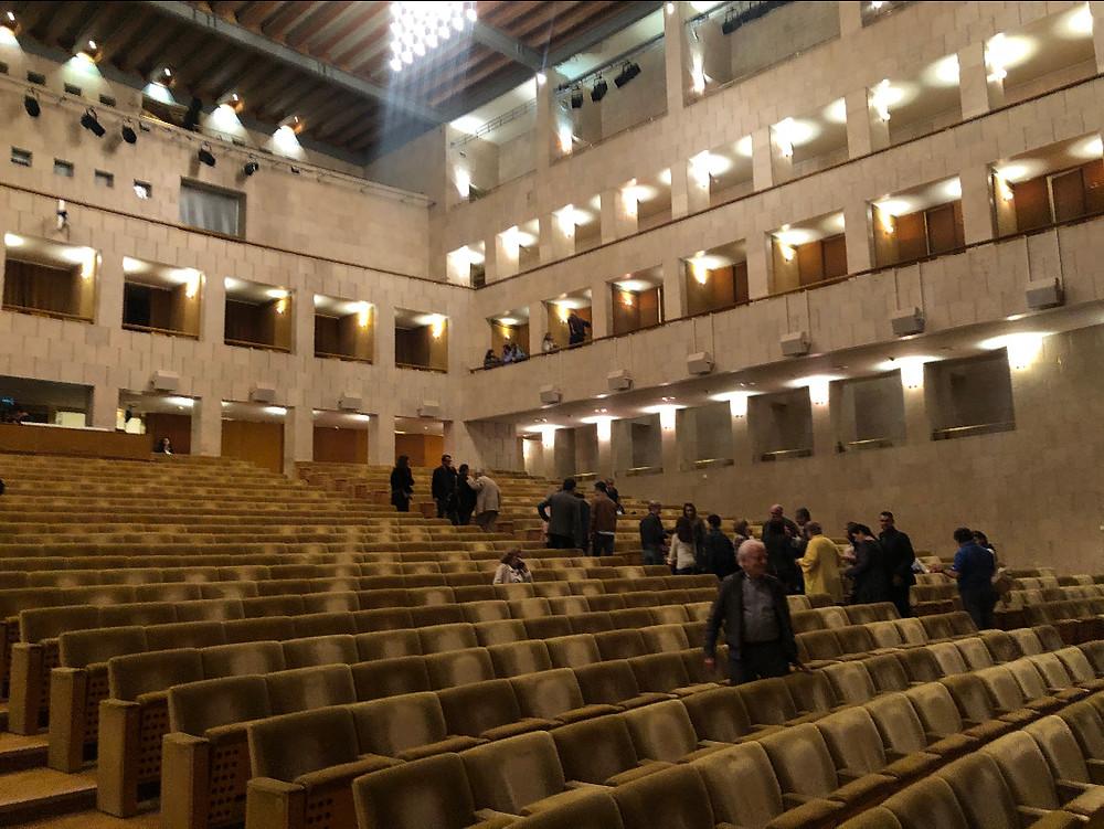 O grande auditório é o exemplo do espetacular projeto do arquiteto português Manuel Salgado. (Foto: Ana Maria Vilaça)