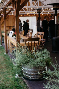 Reception in the Pavilion at Valley Meadows Poulsbo