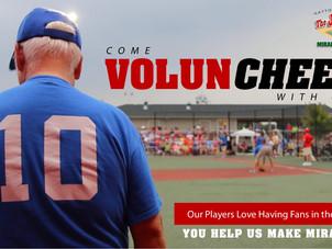 Come Volun-CHEER!