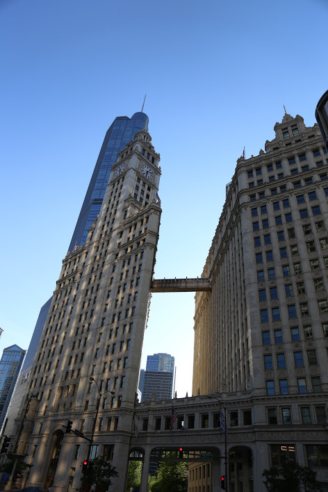 The Wrigley Building on Michigan