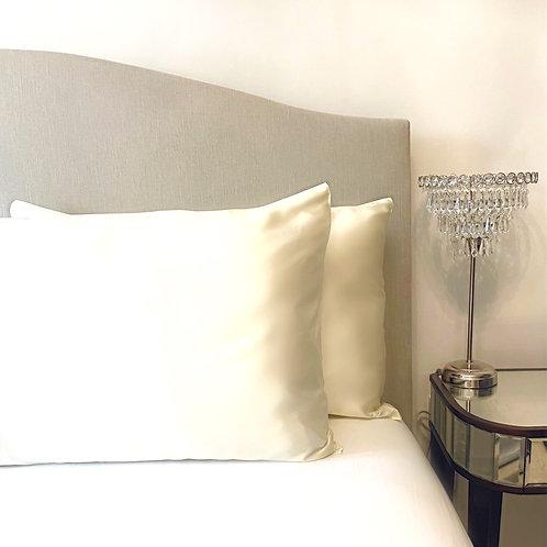 Ivory 100% Mulberry Silk Pillowcase