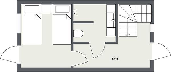 Tegning leilighet 1 soverom