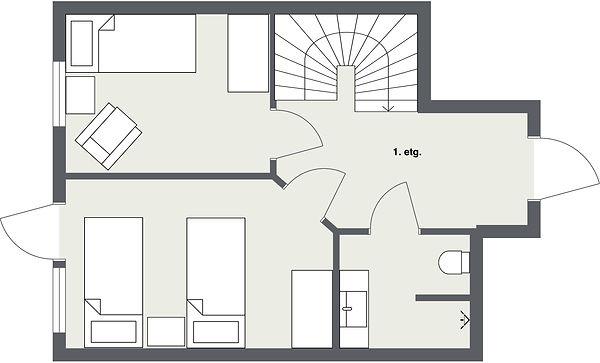 Tegning leilighet 2 plan