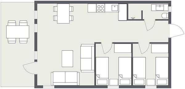 Tegning leilighet 1 plan