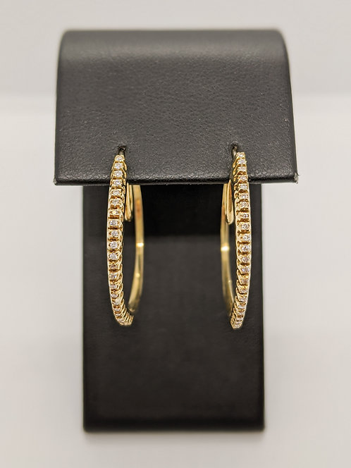 Gold & Diamond Hoops