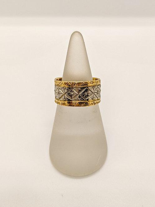 Yellow & Palldium Ring
