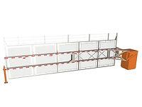 Barrière automatique à grillage renforcé pour contrôle d'accès physique