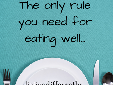 Eating healthy in ONE rule