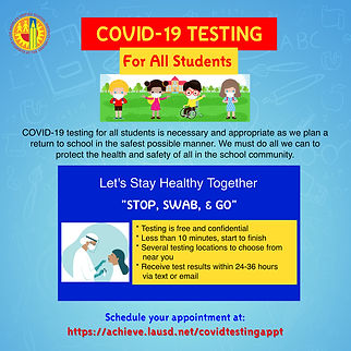 COVID Testing For All Students Social Me