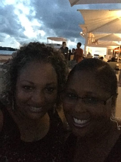 Bermuda at night by the harbor