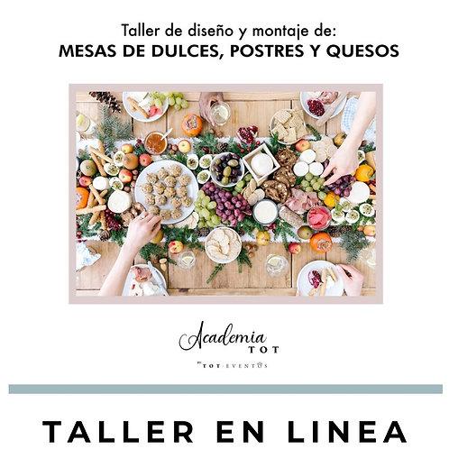 Taller Online Mesas Dulces, Postres y Quesos
