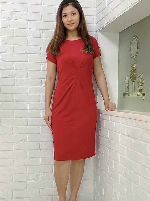 Indigo Red  Dress