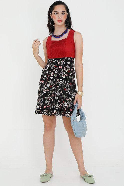 Scarlett Red Dress with Print