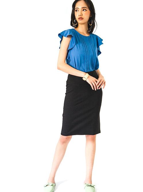Eva Pencil Skirt in Black