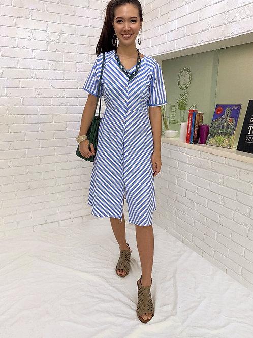 Azure Pin Striped Dress