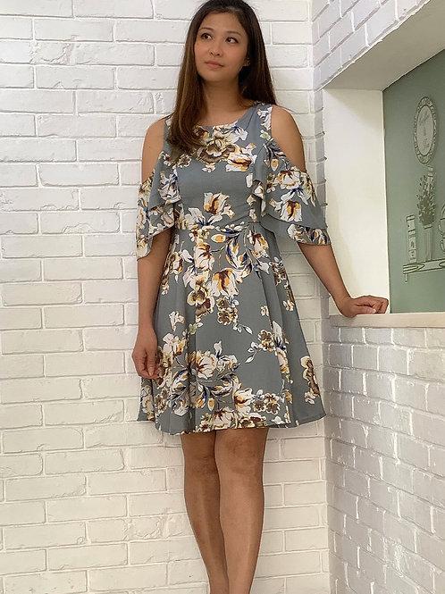 Poppies Printed Dress