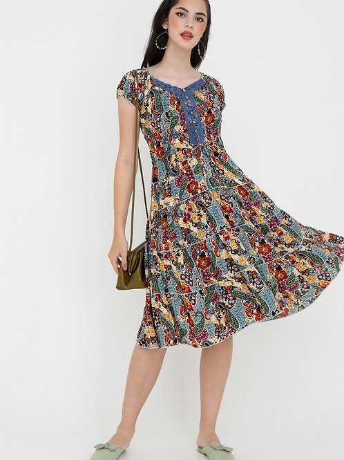 Camilla Printed Swing Dress