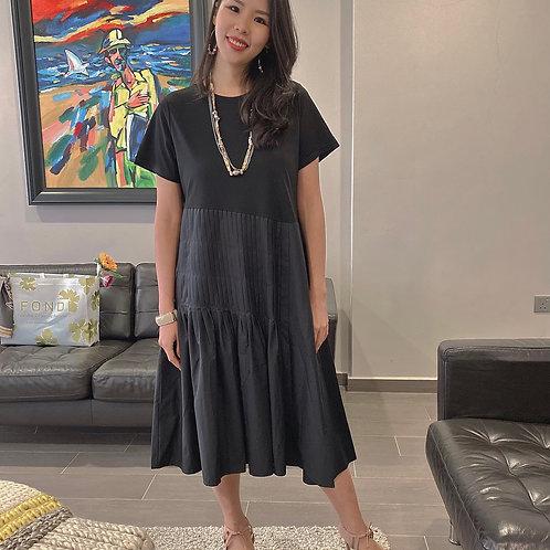Baby Black Pleated Dress
