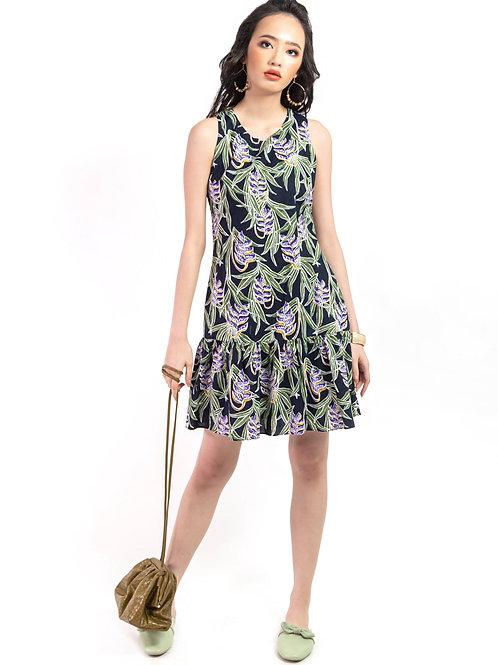 Abby Leaves Print Dress