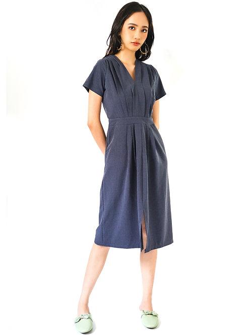 Rinette Pleated Dress in Grey