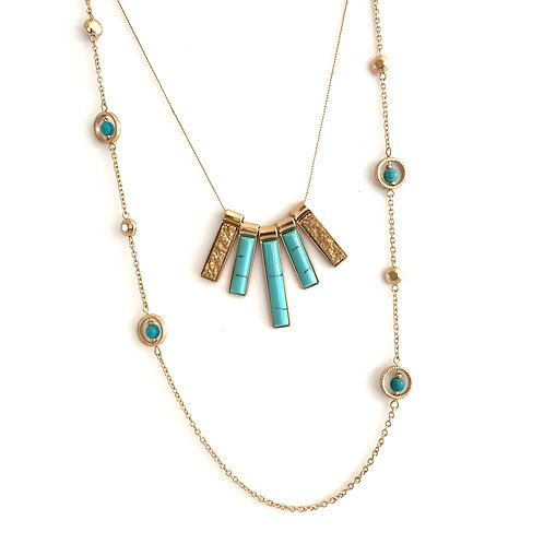 Layered Bauble Necklace