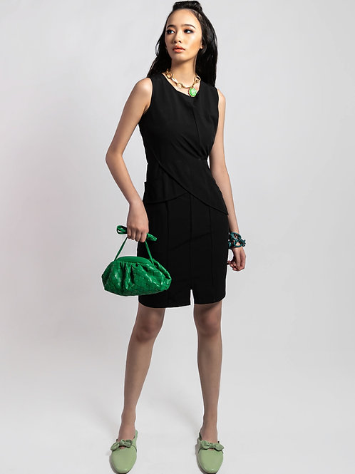 Brigetta Slim Fit Sleeveless Black Dress