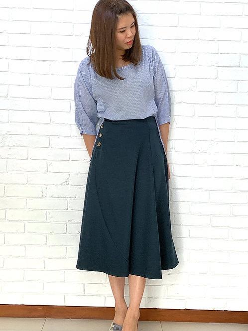 Flare teal skirt