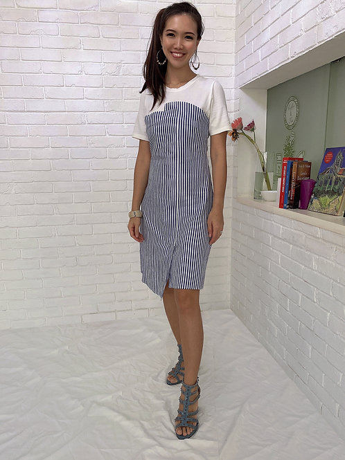 Vicky Striped Tube Dress