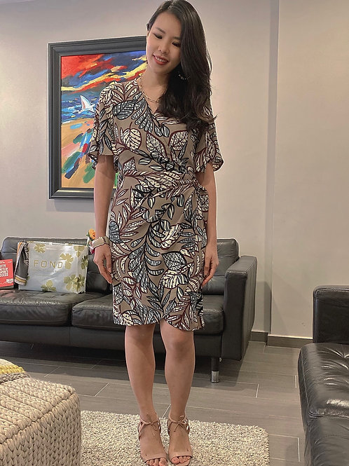 Alyssa Printed Wrap Dress