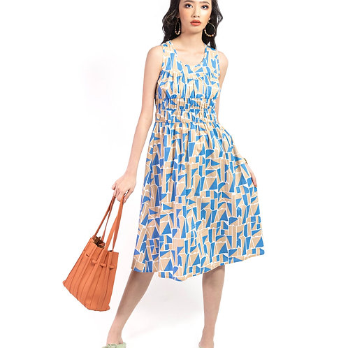 Avery Printed Ruched Dress